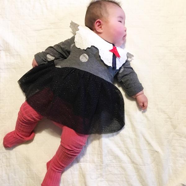 生後4ヶ月赤ちゃん12月冬の服装
