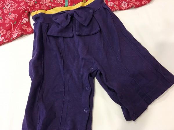 赤ちゃん女の子用袴風カバーオール