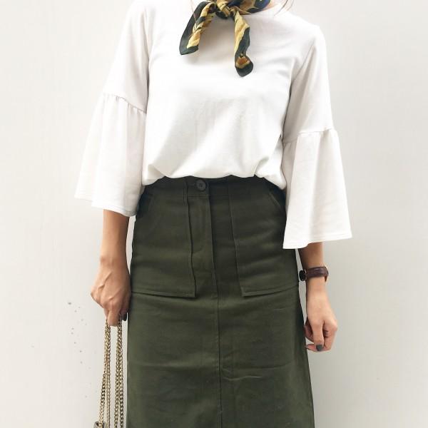 DHOLICタイトスカート秋コーデ