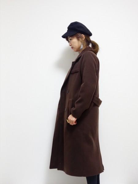 ディーホリックゆったりロング丈コート