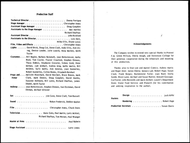 1969 - Julius Caesar program p5-p6 photocopy