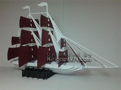 Sailboat - Thuyền version 3 pattern by TienPhuong