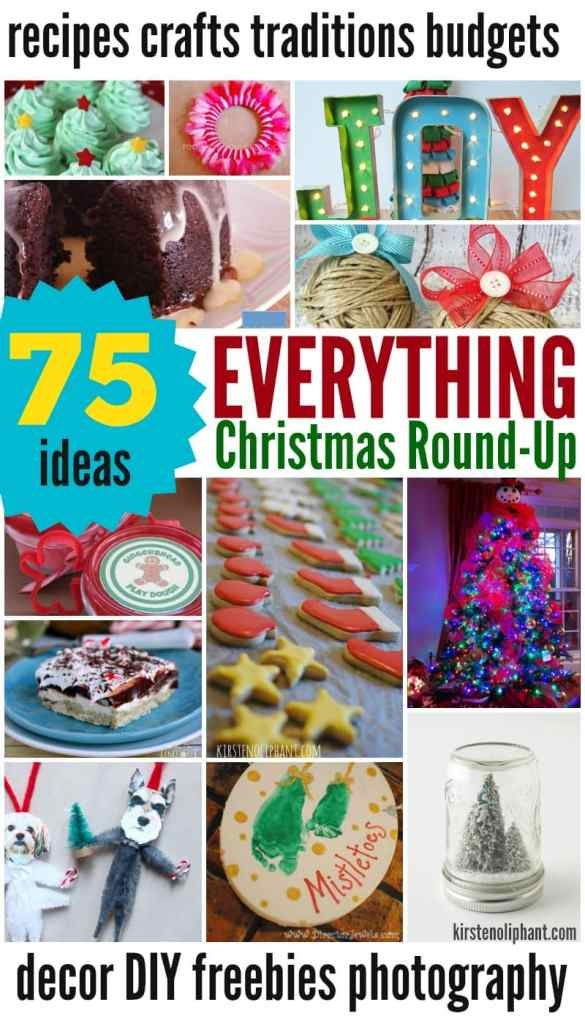 Christmas Ideas for Recipes, Crafts, Traditions, Photography, Pets, and more! 75 ideas all in one place.