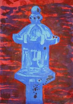 Blue Light Special (lithograph print)