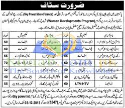 Pakistan Women Development Program Department Jobs 2015