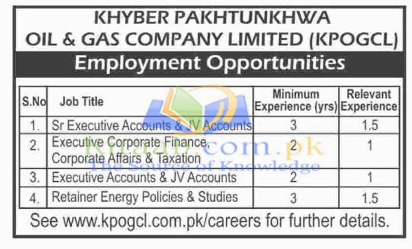 Oil and Gas Development Company Limited Khyber Pakhtunkhwa Jobs December 2015-16 Test Interview Dates Application Form Eligibility