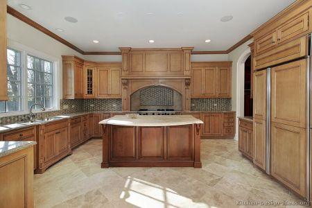 kitchen cabinets traditional two tone 080 s27719161 light medium wood hood island luxury