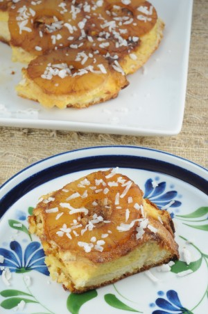 Hawaiian Desserts Pineapple Sponge Cake With Cotton Candy