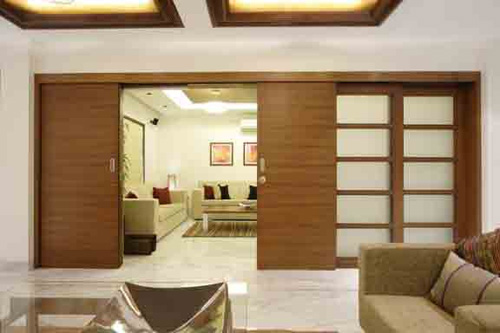living hall partition kitchen decor