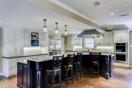 traditional kitchen remodeling in dalas tx gray and white kitchen cabinets