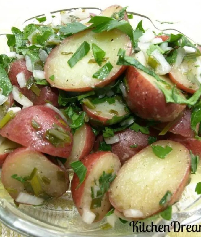 Warm Potato Salad With Herbed Vinaigrette