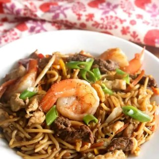 "Better than take out with this one secret ingredient! This Loaded ""House"" Lo Mein is quick cooking, easy to prepare and loaded with savory umami flavor!"