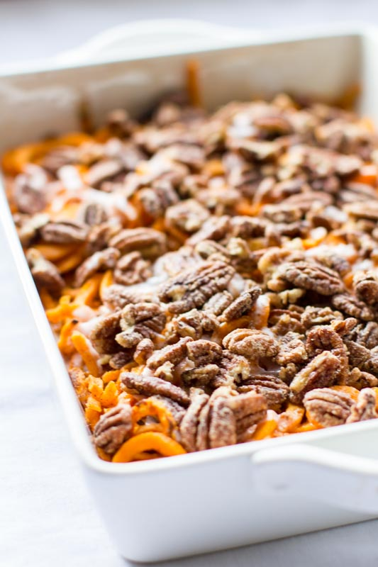 Spiralized Sweet Potato Casserole Recipe