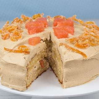 Ruby grapefruit cake with brown sugar buttercream