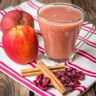 Cranberry and Apple Hot Smoothie – Week 2 of my hot smoothie Saturday series for October