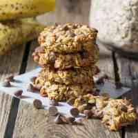 Banana Oat Cookies - no flour, no eggs, no butter - totally healthy and delicious!