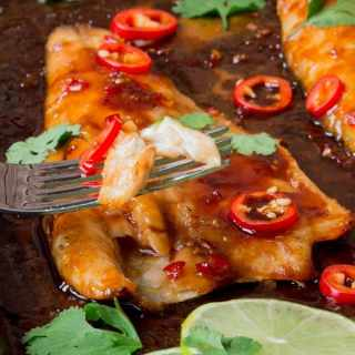 12 minute Sticky Asian Sea Bass