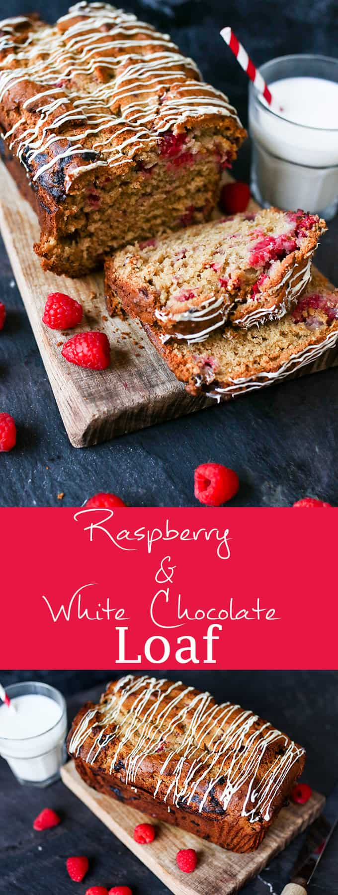 Raspberry and white chocolate loaf - no mixer required for this moist and fruity cake.
