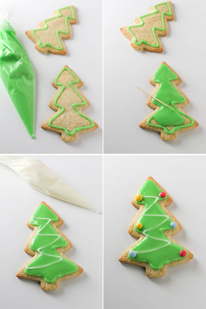 How to make christmas sugar cookies with simple icing.
