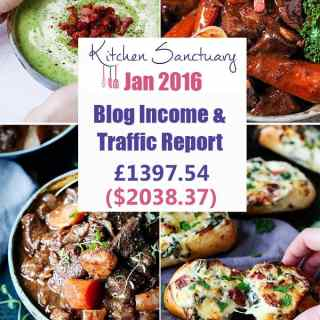 Kitchen Sanctuary - Blog income January 2016