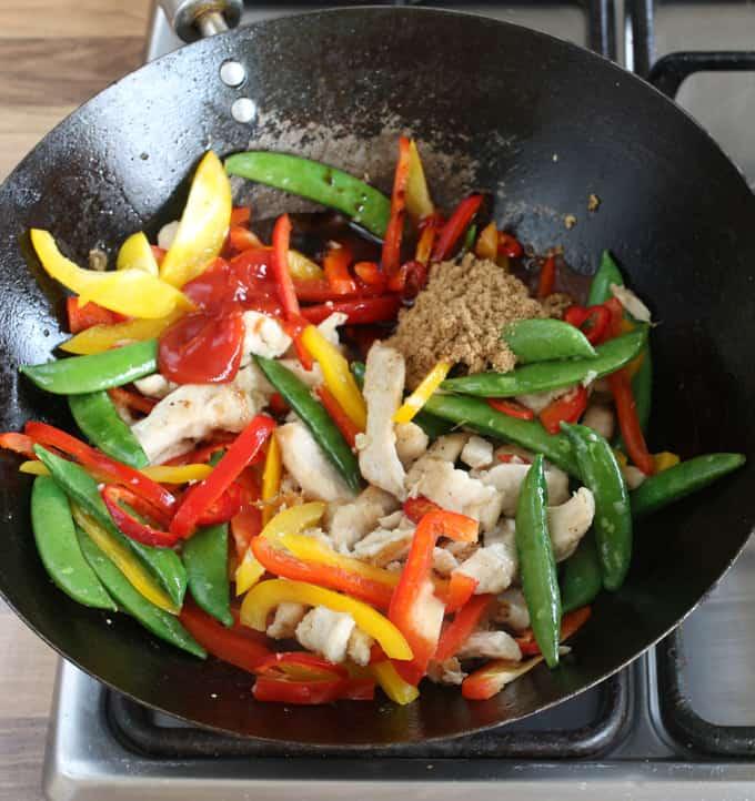 KS Quick Chicken Stir Fry prep