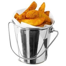 Steel buckets for fries
