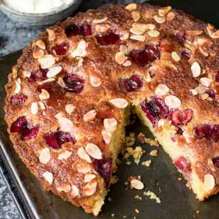Gluten Free Cherry and Almond Cake