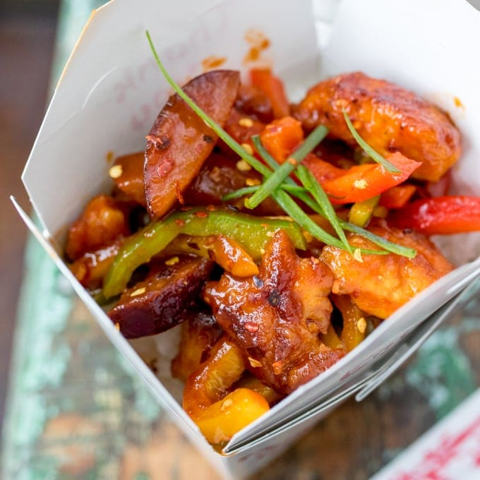 Crispy Chilli Plum Chicken