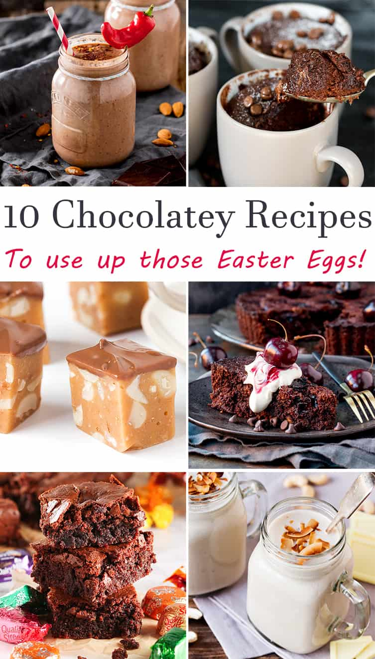 10 ways to use up leftover Easter eggs. If your kids got 5 million Easter eggs, like ours often do, why not use some up in one of these chocolatey recipes!