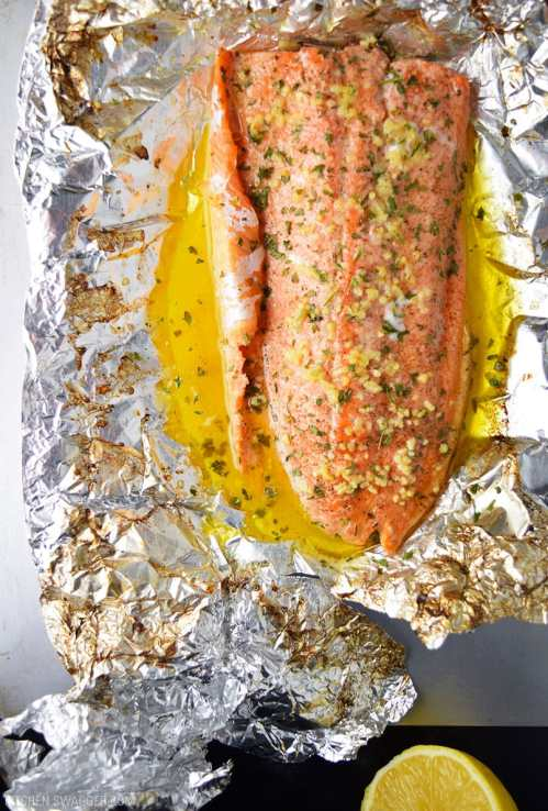Posh Bacon Foil Recipe Kitchen Swagger Grilled Rainbow Trout Recipes Foil Grilled Trout Recipes My Or Recipes Garlic Butter Steelhead Trout