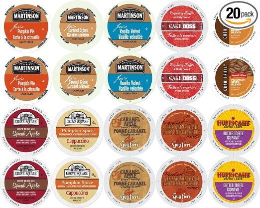 Coffee Variety Pack for Keurig Kcup Brewers Fall