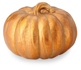 October Hill Metallic Copper Pumpkin of Mine Decoration