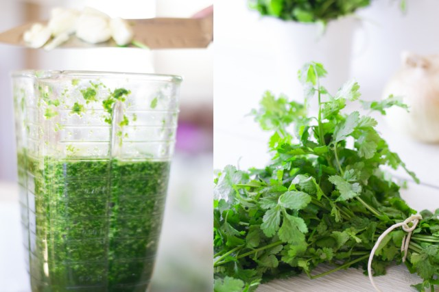 Cilantro for Arroz Verde