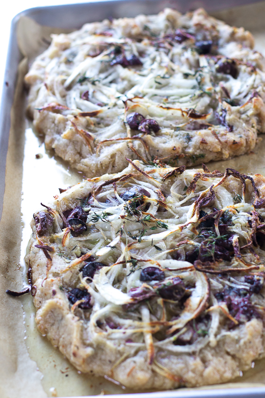 onion olive tart ready