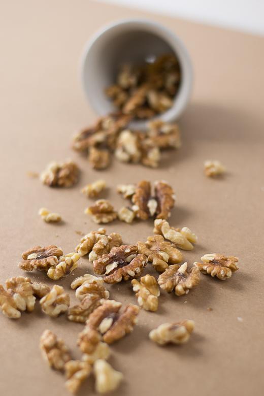 spilling walnuts