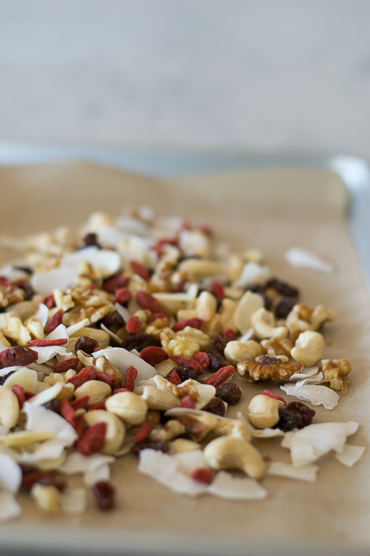 pseudo trail mix with goji berries