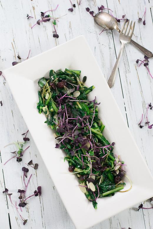 dandelion winter salad
