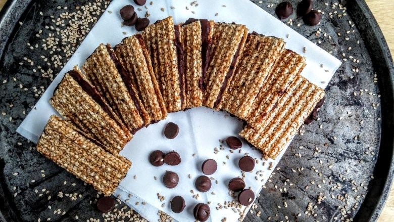 Homemade Chocolate Sesame Candy Bars