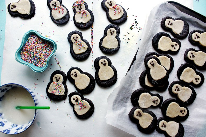 Gluten Free Vegan Penguin Brookies penguin cookies brookie gluten free vegan cookie cute cookie penguin cute