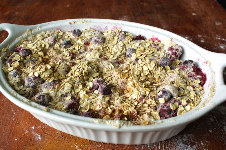 I never know if folks prefer to call it a berry crumble or a berry crisp. What's your fave? Well, no matter the name, this berry crisp/berry crumble is deliciously addictive. It's gluten free and vegan and perfect for the sweet dawn of summertime.