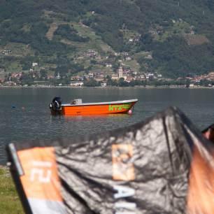 Lake Como KTS40 kitesurfing rescue boat