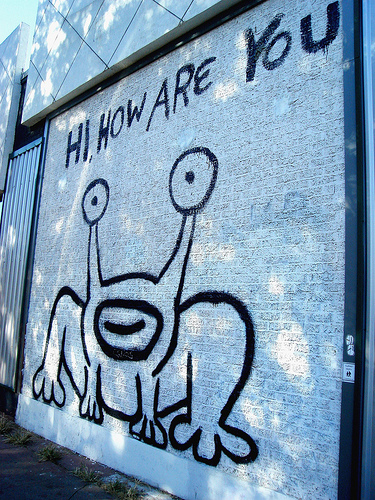 Daniel Johnston's famous Austin graffiti, photographed by Kari Sullivan