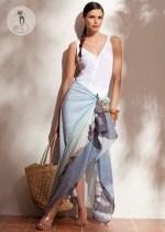 5 - Как носить шарфы с узором - Как юбка