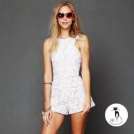 Кружевной комбинезон - 26 модных летних комбинезонов - лето 2014