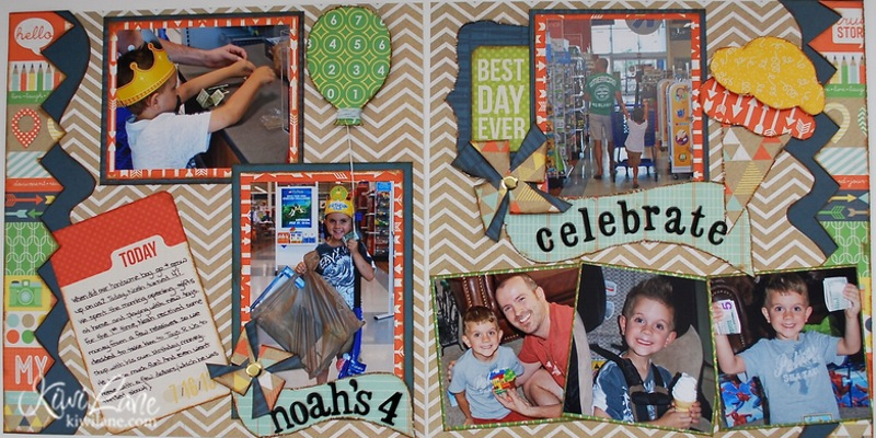 Finished 2-Page Layout using Kiwi Lane Designer templates