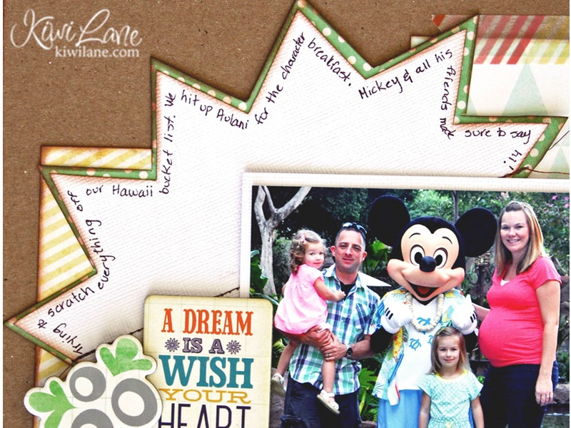 Closeup of Disney Journaling