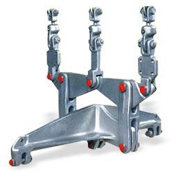 特別高圧送電線用架線金具、地中線用機材、配電線用金具