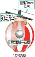 防水仕様のLED電球一体型提灯コード