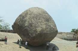 large round boulder