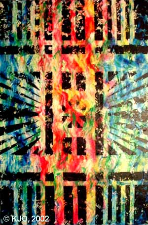 Geometric Abstract by Kerry Jo Montoya